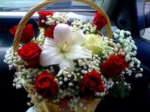 Un panier de fleurs pour vous